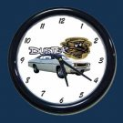 New White 1970 Plymouth Duster Wall Clock