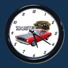 New Red 1972 Plymouth Duster Wall Clock