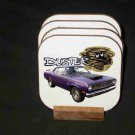 Beautiful Purple 1972 Plymouth Duster Hard Coaster set!