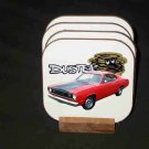 Beautiful Red 1972 Plymouth Duster Hard Coaster set!