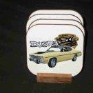 Beautiful 1974 Plymouth Duster Hard Coaster set!