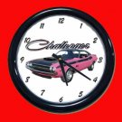 New Pink 1970 Dodge Challenger TA Wall Clock