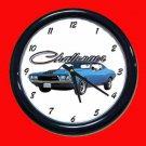 New Blue 1972 Dodge Challenger Wall Clock
