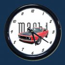 New Red 1969 Mustang Mach 1 Wall Clock