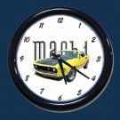 New Yellow 1969 Mustang Mach 1 Wall Clock