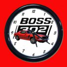 New Red 1970 Boss Mustang Wall Clock