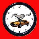 New Orange 1970 Mustang Wall Clock