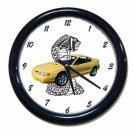 New Yellow 1998 Ford Mustang Cobra Wall Clock