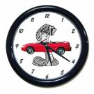 New Red 1994 Ford Mustang Cobra Wall Clock