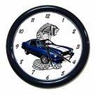 New Blue 1976 Ford Mustang Cobra Wall Clock