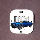 New Blue 1970 Ford Mustang Mach 1 Desk Clock