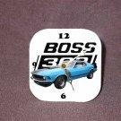 New Blue 1970 Ford Boss Mustang Desk Clock