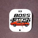 New Red/Orange 1970 Ford Boss Mustang Desk Clock