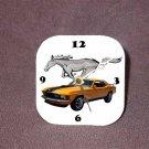 New Orange 1970 Ford Mustang Desk Clock