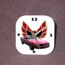 New Red 1977 Pontiac Firebird Desk Clock