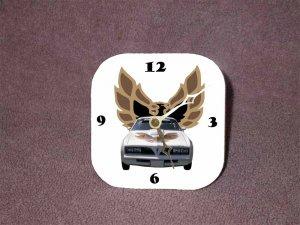 New White/Gold 1977 Pontiac Trans AM Desk Clock