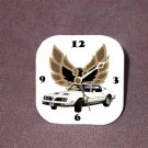 New White/Gold 1977 Pontiac Formula Firebird Desk Clock