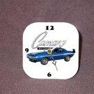 New 1969 Blue Chevy Yenko Camaro Desk Clock