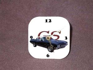New 1970 Blue Buick Gran Sport Convertible Desk Clock