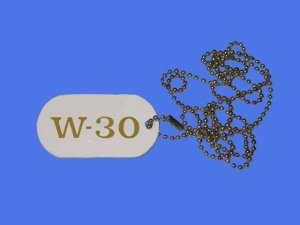 New Olds W-30 Logo ID Tag