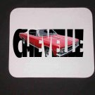 New 1966 Red Chevy Chevelle White Top w/ letters Mousepad!
