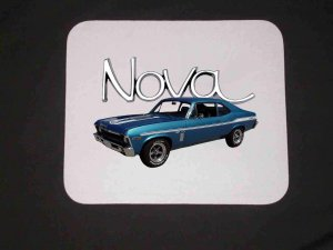 New Blue 1969 Chevy Yenko Nova Mousepad!