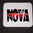 New Red 1966 Chevy Nova SSw/ letters  Mousepad!