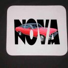 New Red 1972 Chevy Nova SS w/ letters Mousepad!