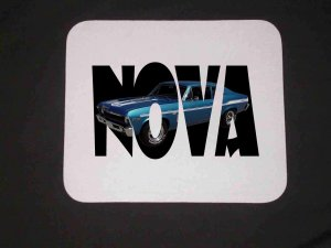 New Blue 1969 Chevy Yenko Nova w/ letters Mousepad!