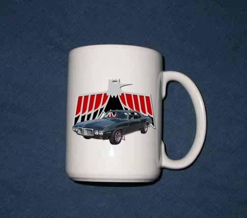 New Huge 15 Oz.  1969 Pontiac Firebird  Mug