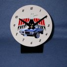 New  1968 Midnight Blue Pontiac Firebird  desk clock!