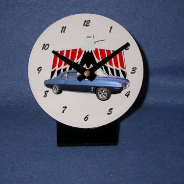 New  1969 Blue Pontiac Firebird  desk clock!