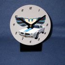 New White 1972 Pontiac Firebird Trans AM desk clock!