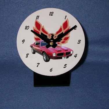 New  1973 Red Pontiac Formula Firebird desk clock!