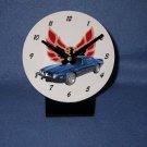 New Blue 1974 Pontiac Firebird Trans AM Eagle delete desk clock!
