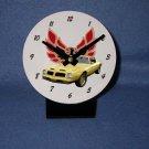 New 1975 Yellow Pontiac Formula Firebird desk clock!