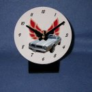 New Silver 1976 Pontiac Firebird desk clock!