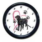 New Black Labrador Wall Clock