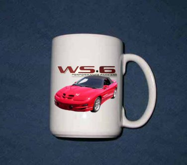 New Huge 15 Oz.  2001 Pontiac Trans AM WS6  Mug