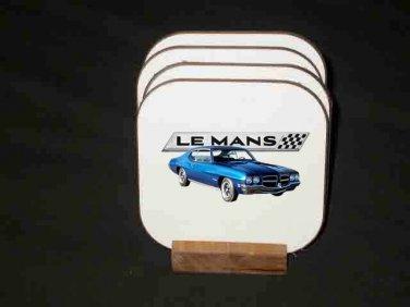 New 1972 Pontiac Lemans Hard Coaster set!2