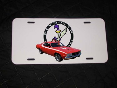 NEW 1974 Plymouth Roadrunner  License Plate FREE SHIPPING!