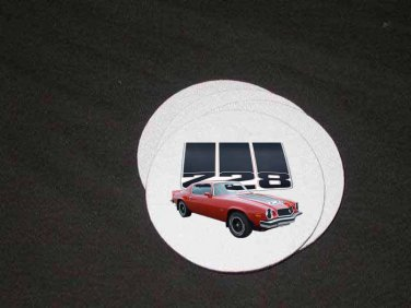 New 1974 Red Chevy Camaro Z28 Soft Coaster set!!