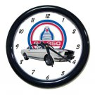 New White 1965 Ford Mustang Cobra GT-350 Wall Clock