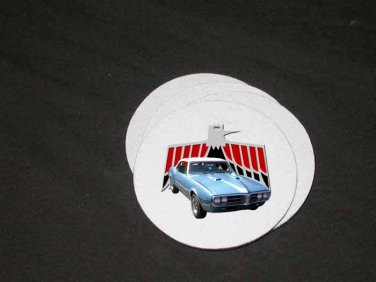 New Lt. Blue 1967 Pontiac Firebird Soft Coaster set!!