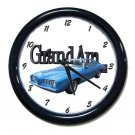 New Blue 1973 Pontiac Grand AM Wall Clock