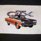 New 1969 Plymouth GTX Hand Towel