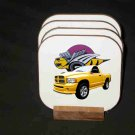 Beautiful  2005 Dodge Rumble Bee Hard Coaster set!