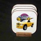 Beautiful  2005 Dodge Rumble Bee Hard Coaster set!