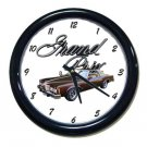New Brown 1977 Pontiac Grand Prix Wall Clock