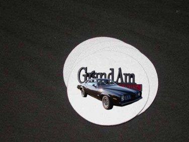 New Black 1973 Pontiac Grand Am Soft Coaster set!!